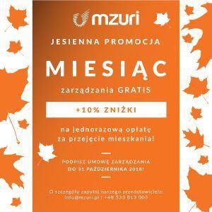jesienna promocja - miesiąc zarządzania GRATIS